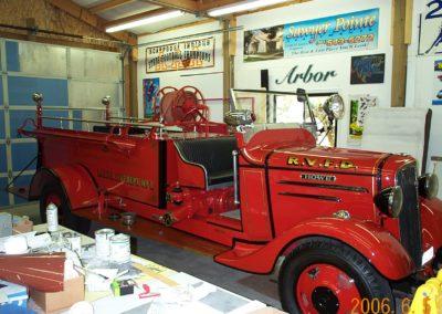Fire Truck Gold Leaf